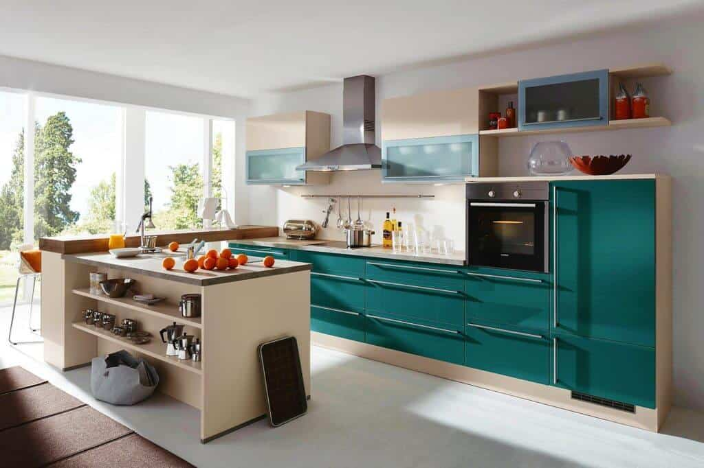 Hochglanz Lack Küche Sandbeige