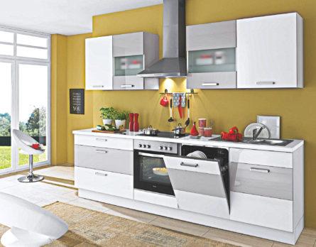 Weiße Küche - Traumküche Lack - 0 % Zinsen Bei Küchenkauf Rate Ab 9 €