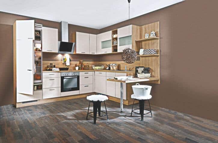 Klassische Beige Matt L Küche