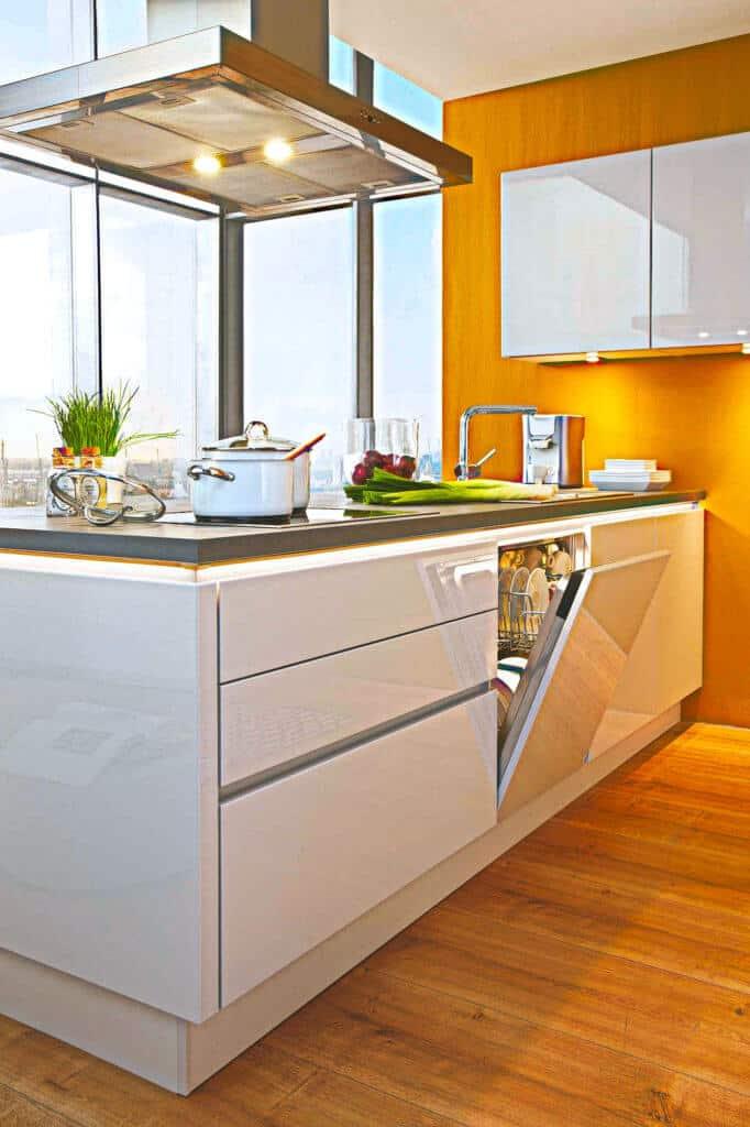 Design Modern Rost Weiß Küchenzeile
