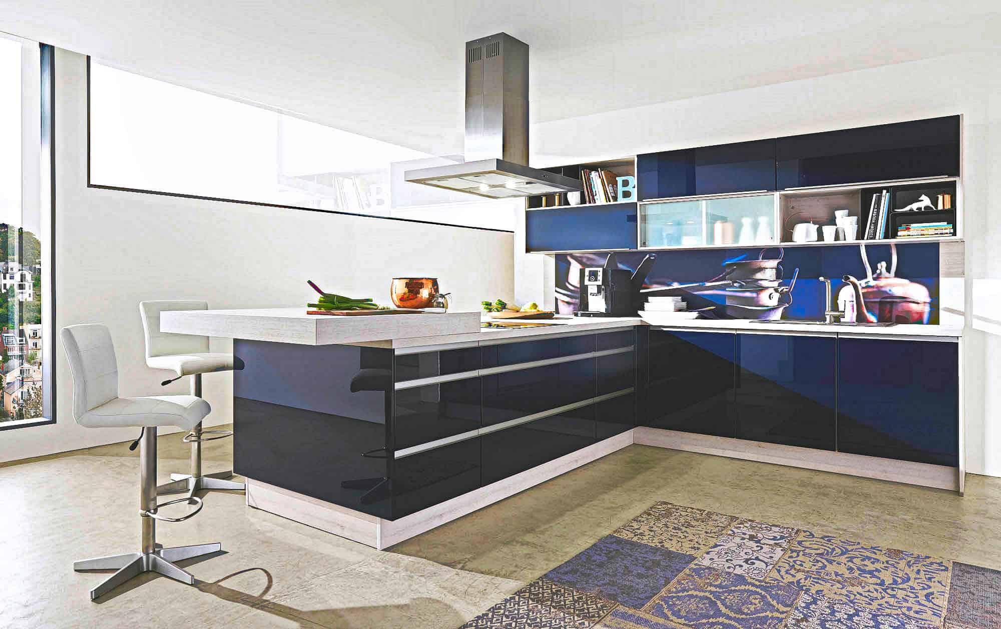 Blaue Küchen günstig kaufen - Kompetente Küchenplanung - Küchenbörse