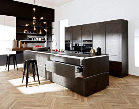 Schwarze Küche - Hochwertige Küchen Immer Preiswerter ! Küchenbörse