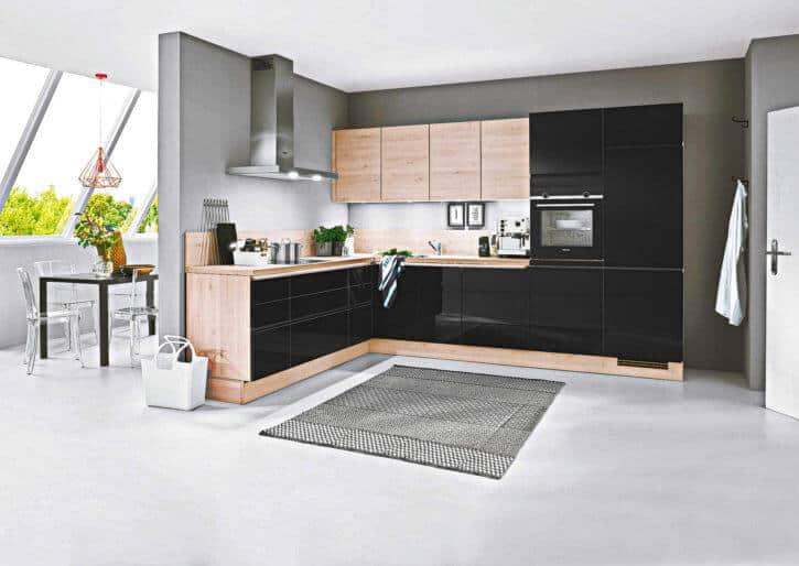 Kleine Küche Schwarz Lack