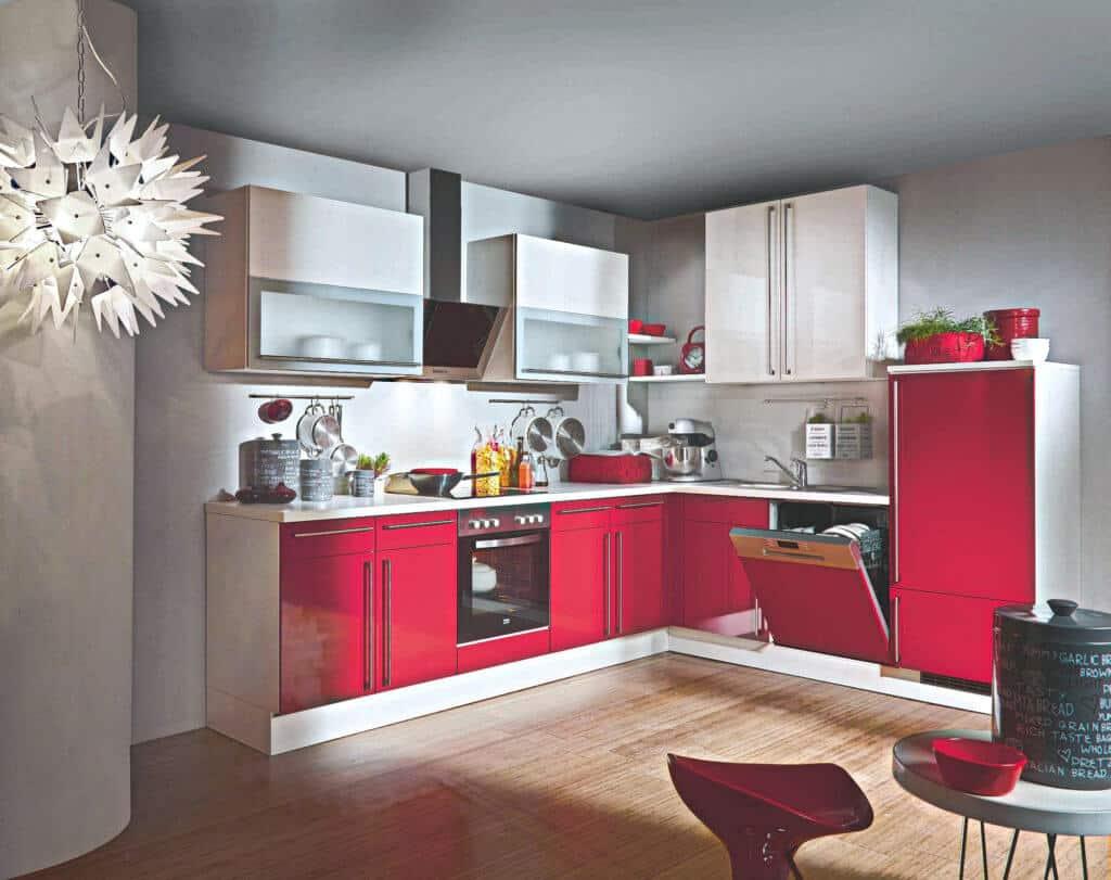 Kleine klassische L Küche