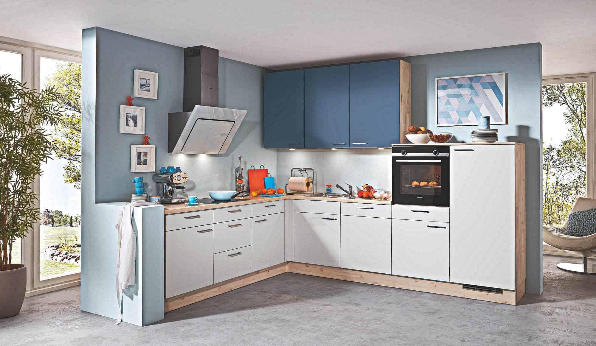 blaue k chen g nstig kaufen kompetente k chenplanung k chenb rse. Black Bedroom Furniture Sets. Home Design Ideas