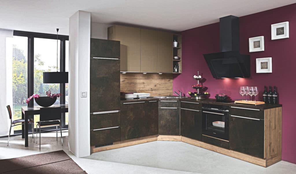 Küche Dark Gold Seidenmatt