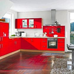 Rote L Küche
