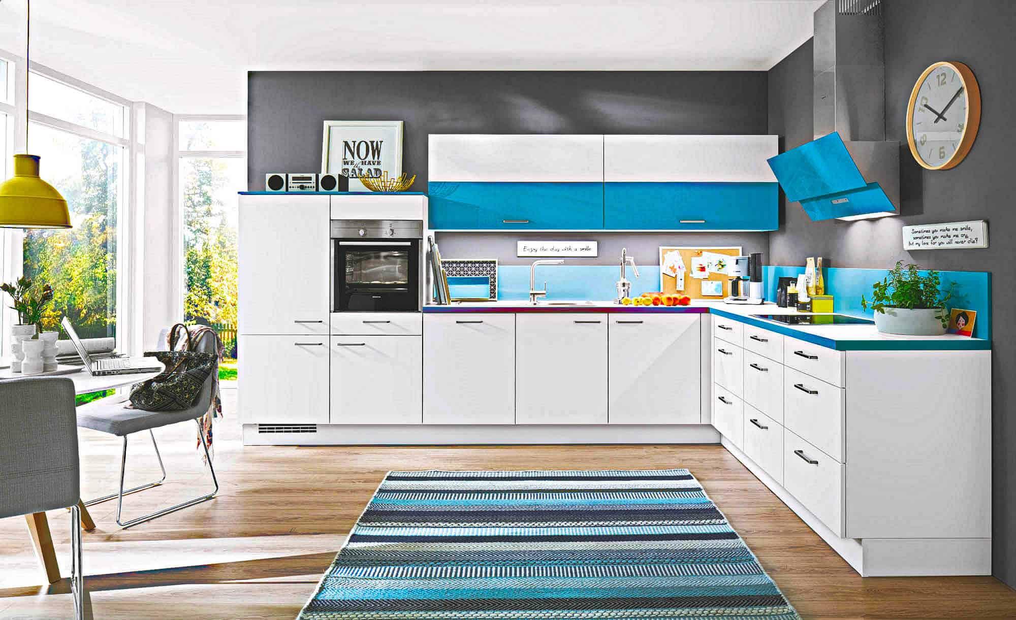 Erfreut Hellblau Grau Küchenschränke Galerie - Ideen Für Die Küche ...