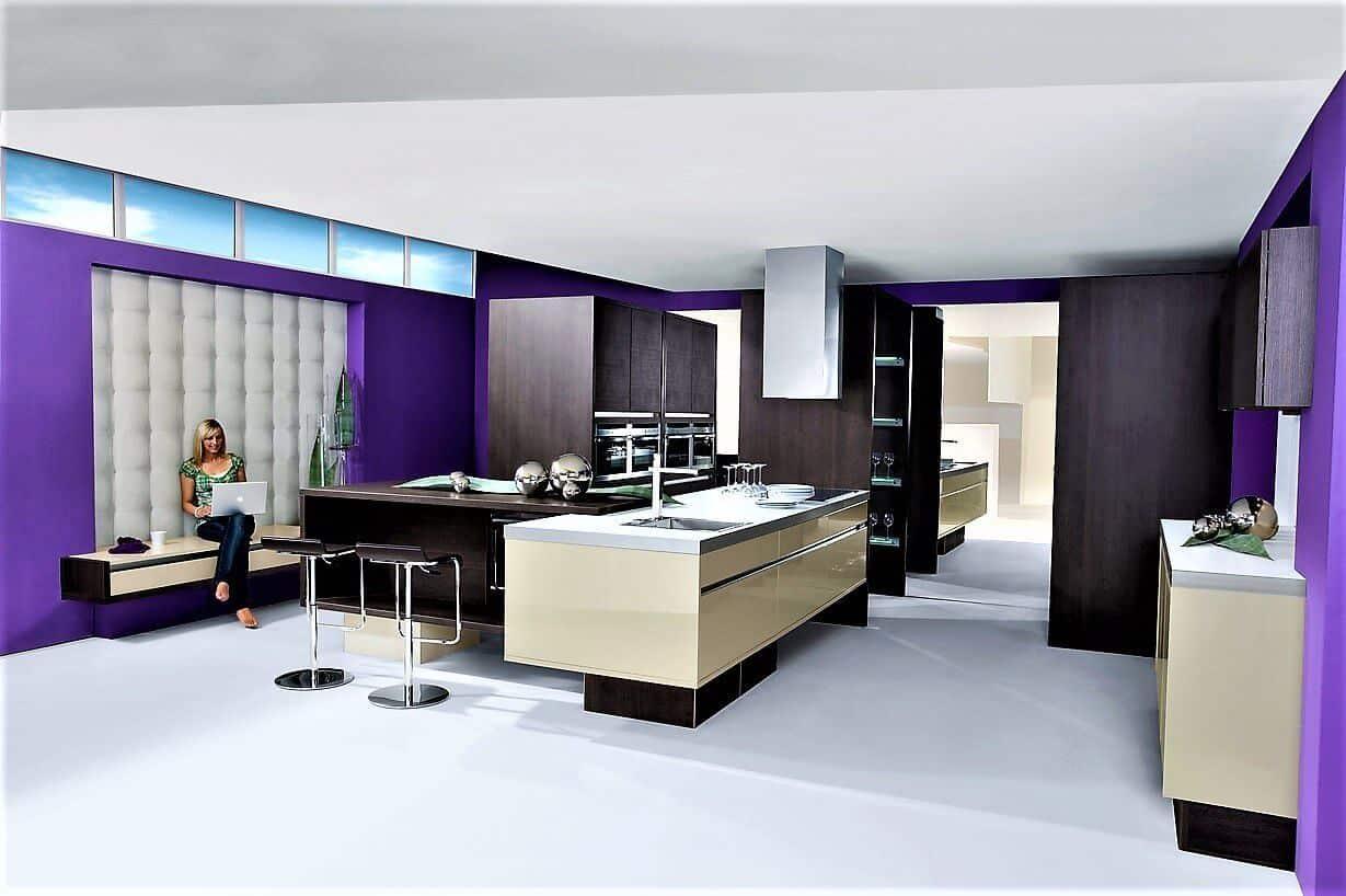 lila k chen auf 7000m2 austellungsfl che g nstig kaufen k chen b rse. Black Bedroom Furniture Sets. Home Design Ideas