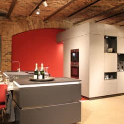 Hochwertige rote Design Küche