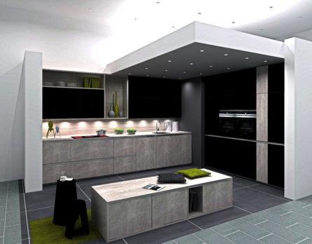 Graue Küche Bis Zu 70 % Preiswerter Kaufen Als Planküche Lieferbar