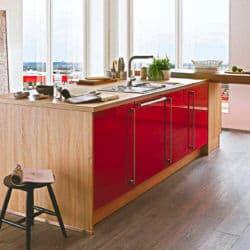 Rote Kücheninsel