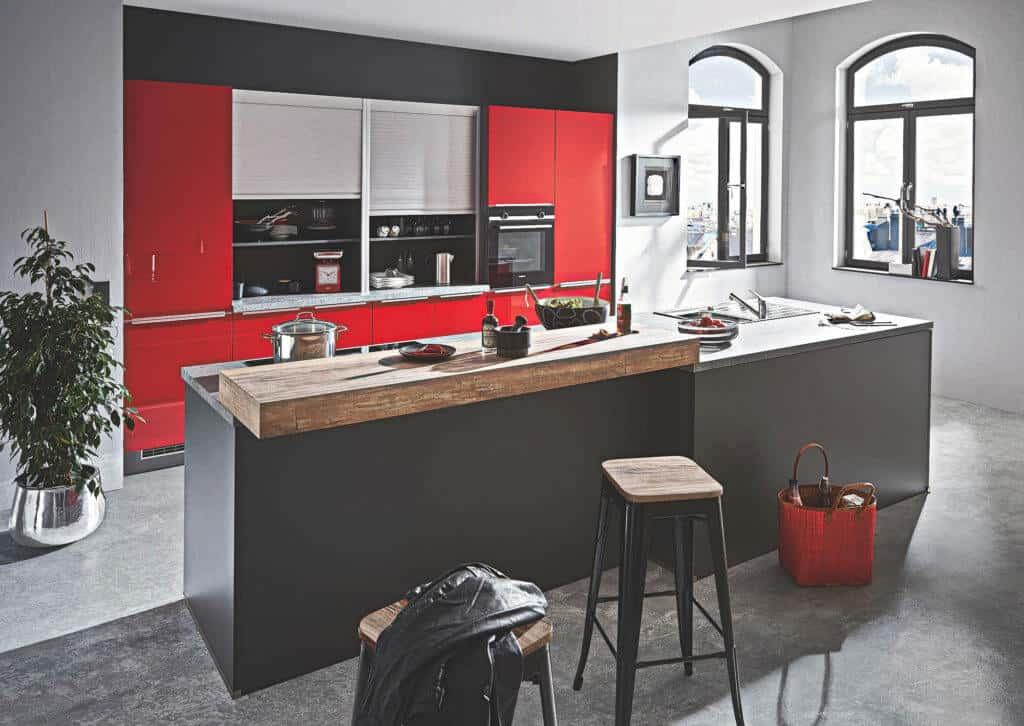 Design Küche mit Kochinsel
