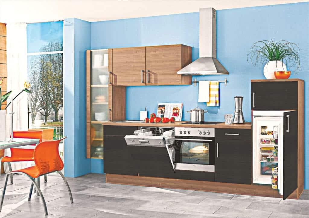 Graue Holz Küchenzeile