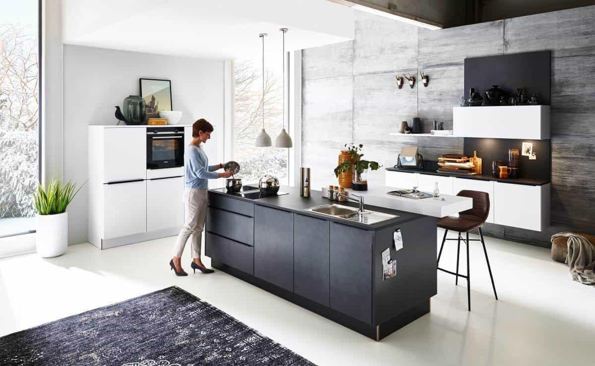 Blaustahl Küche