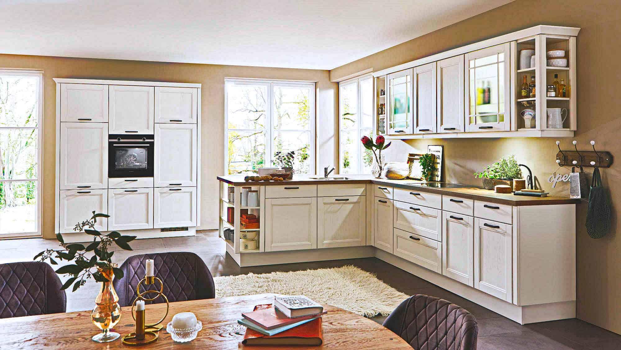Gelbe Küchen. Landhaus Küchen
