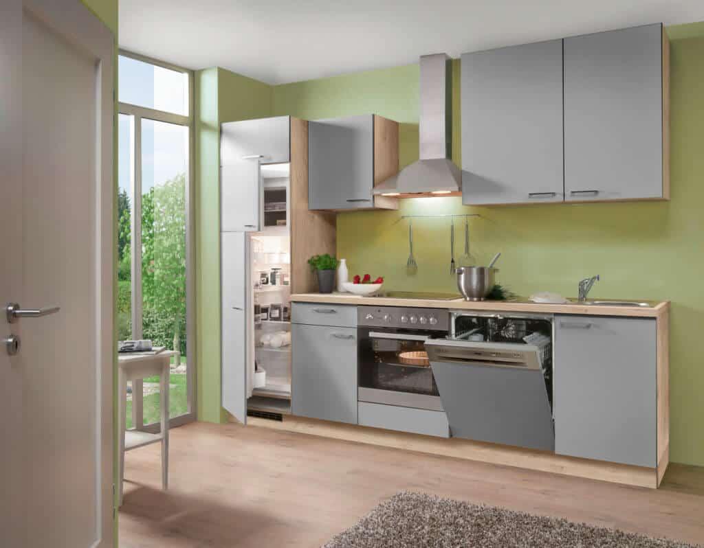kleine graue Küchenzeile