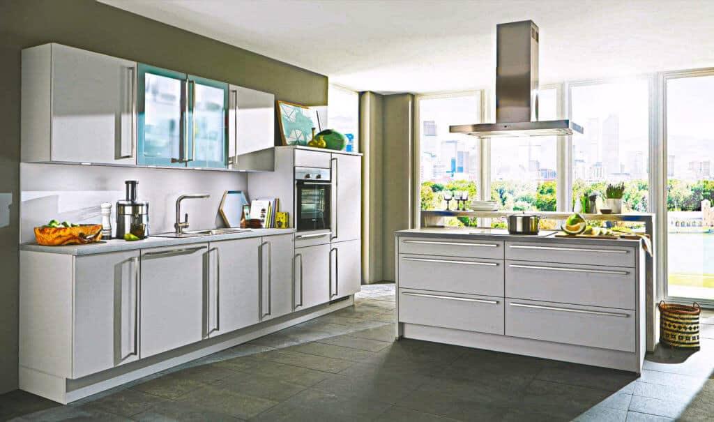 Hell Graue Küchenzeile