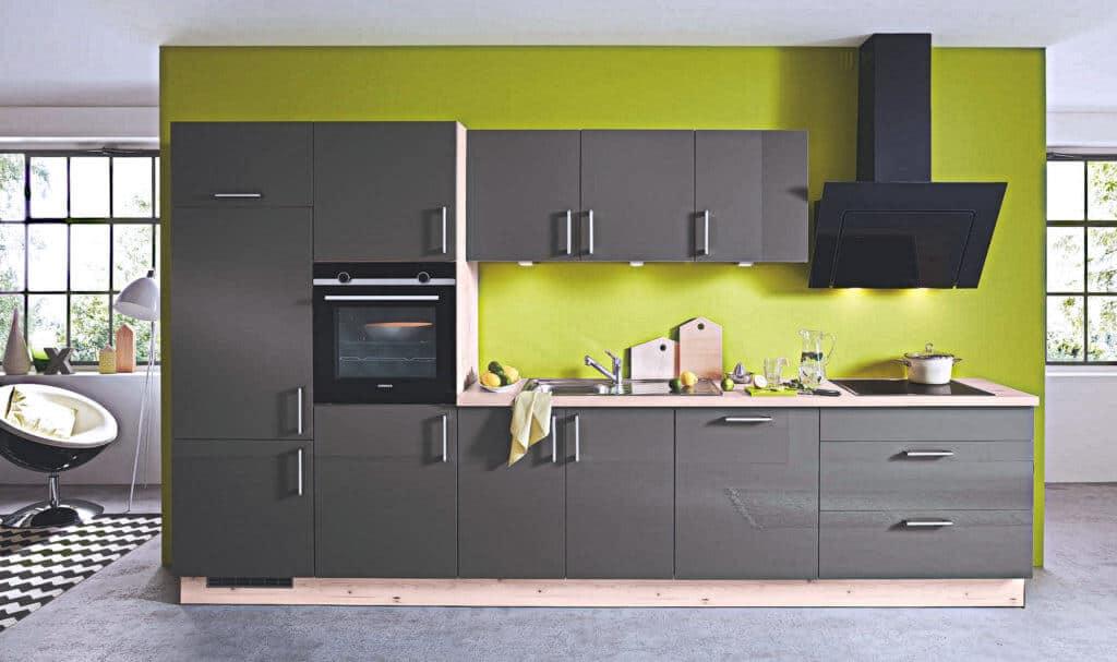 Single Küchenzeile Grau
