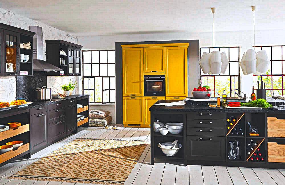 Gelbe Küchen