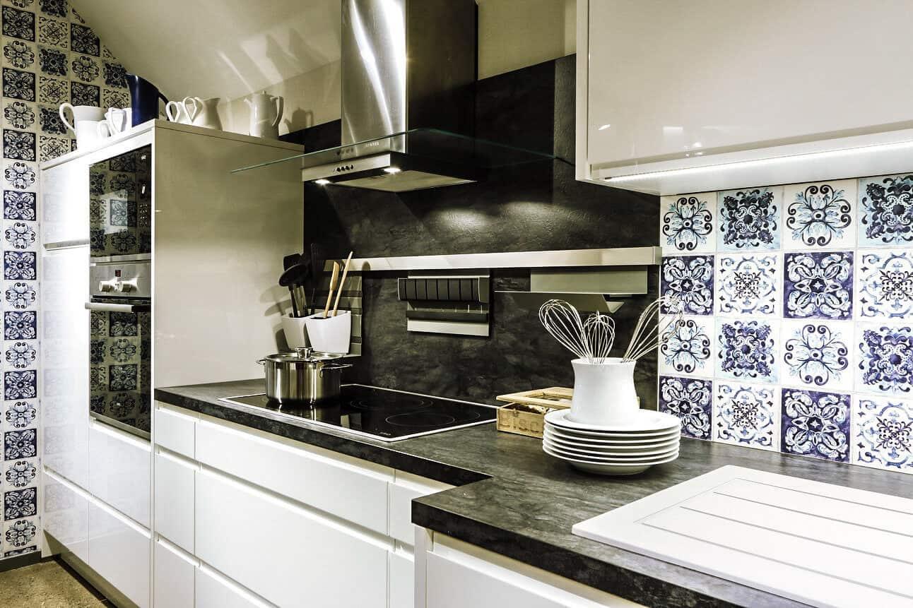 Küchenzeile Weiß Hochglanz lack