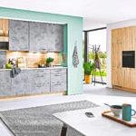 Geräumige Beton L Küche