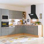 Graue Holz L Küche modern