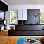 große Blaustahl Küche