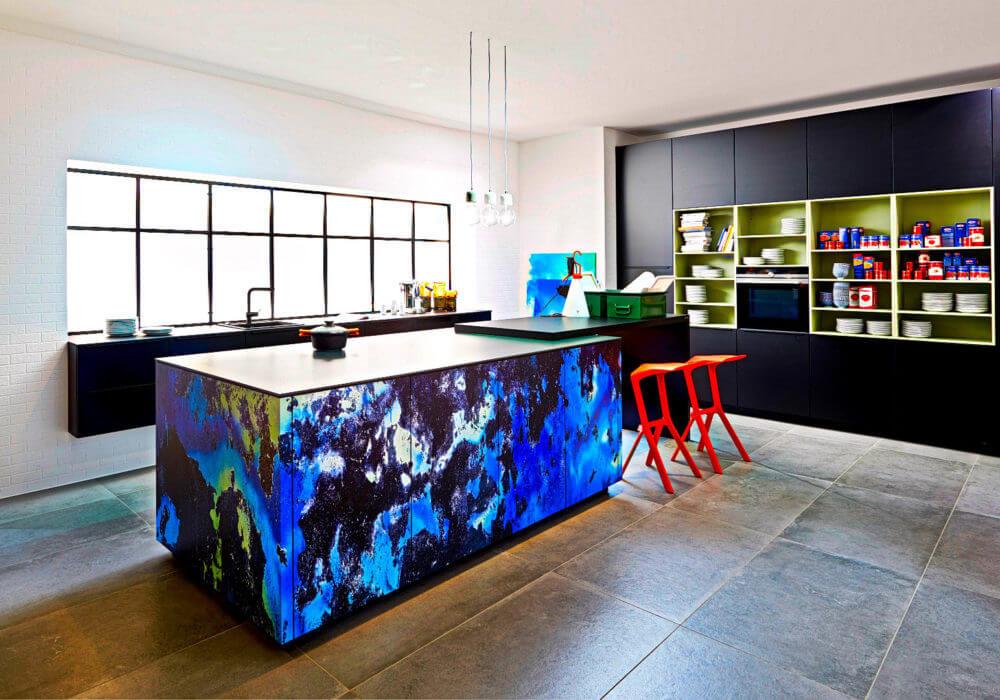 Blaue Küchen