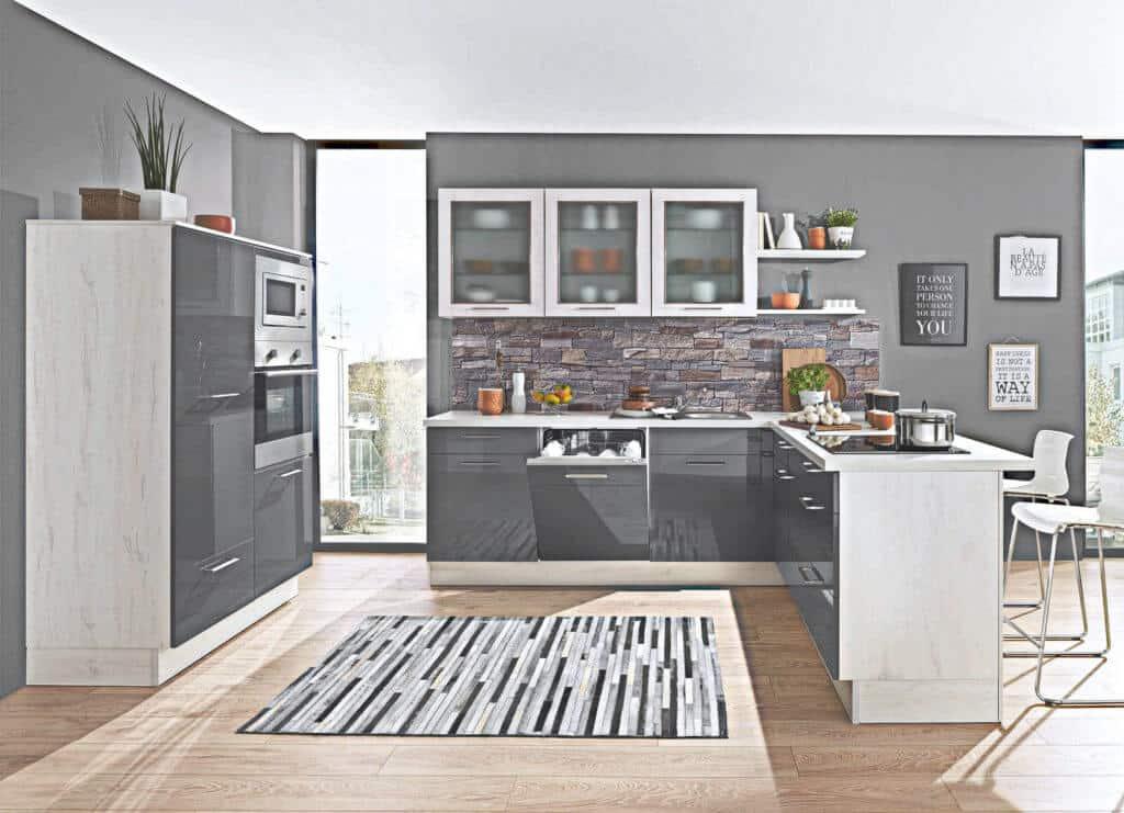 Grau / Weiße U Küche