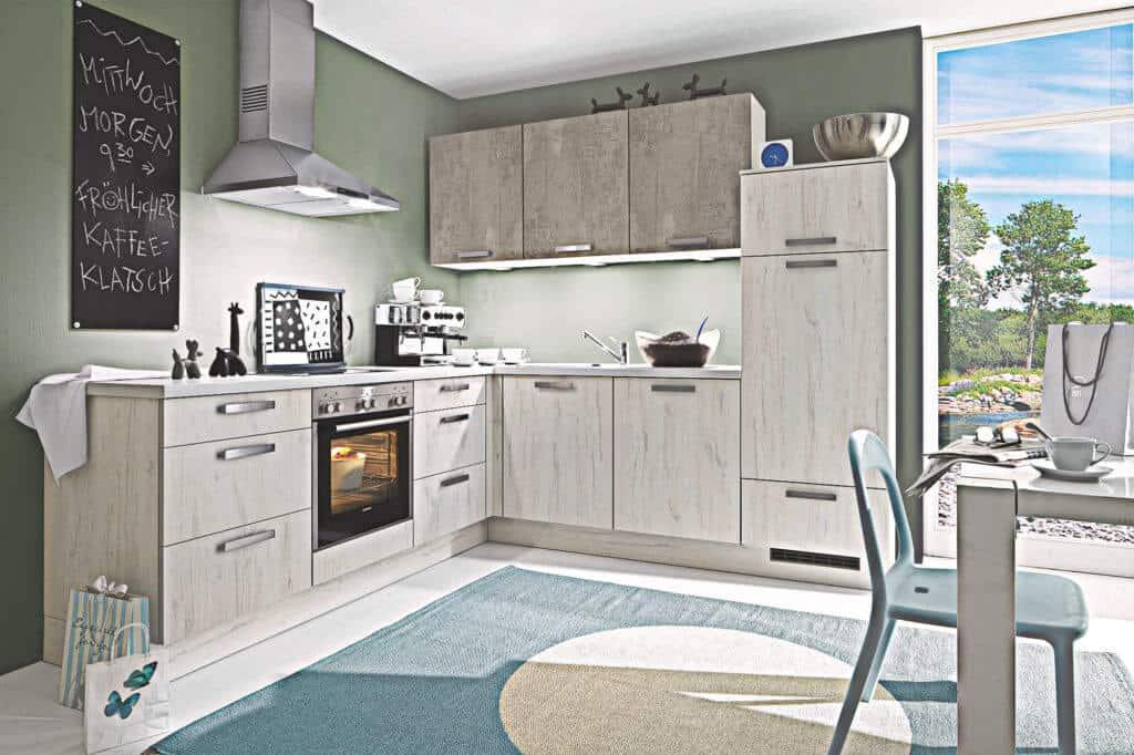 L Küche skandinavische Eiche