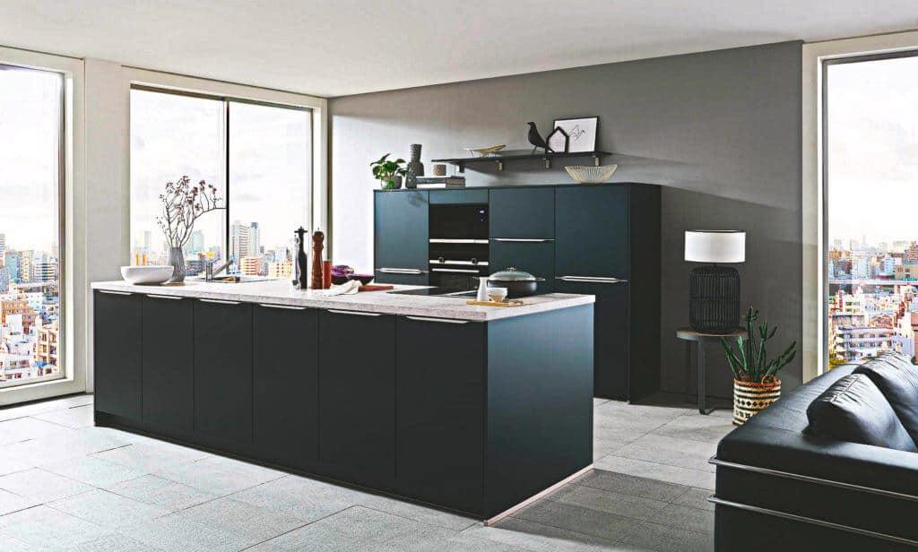 Große Anthrazit Küche