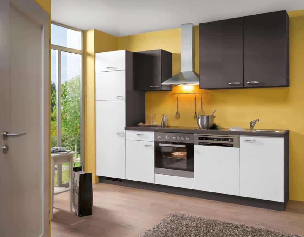 Moderne kleine Küchenzeile