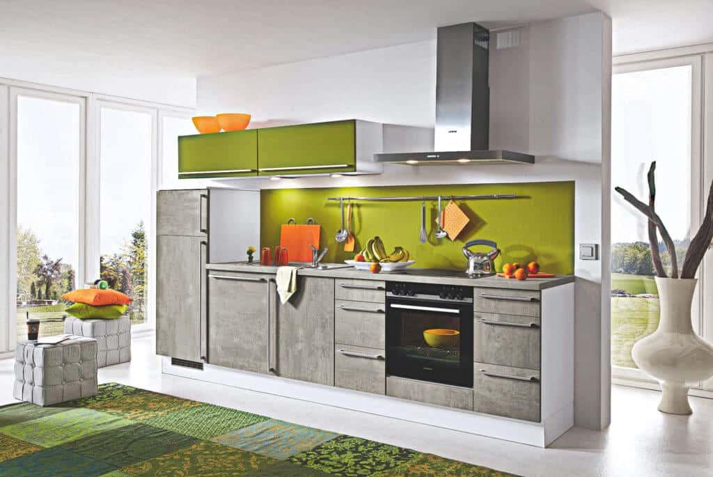 Küchenzeile Beton Grau