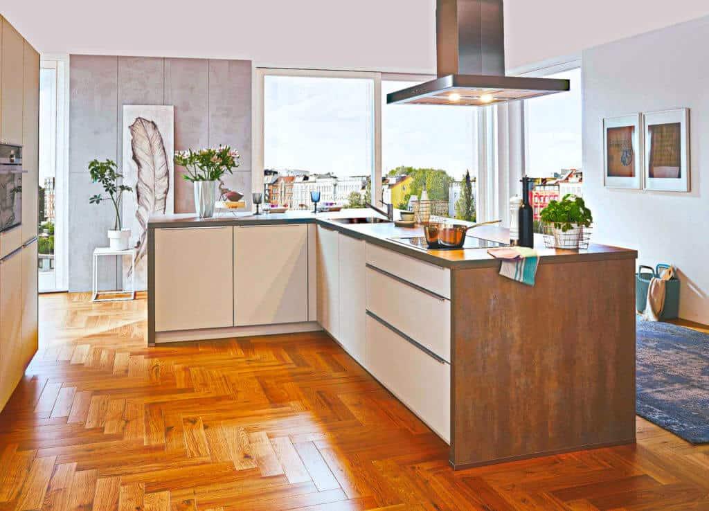 Weiße Industrial Style Küche