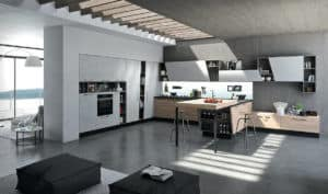 Aran Küche Mia U Küche Holz Lack Hochglanz