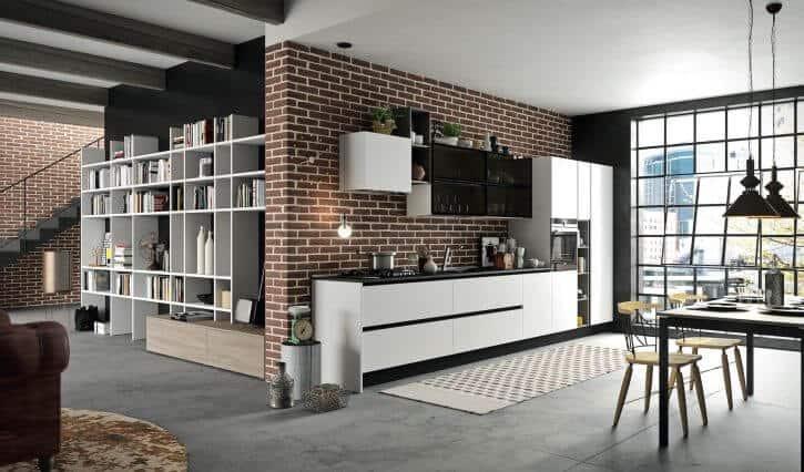 ARAN Mia kleine moderne Küchenzeile in seidenweiß