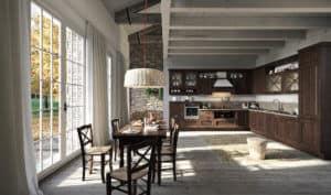 ARAN Bellagio große L Küche im Landhausstil Esche gebeizt