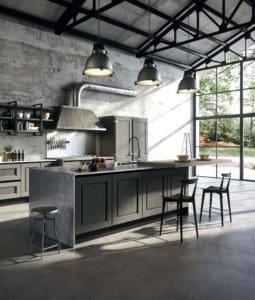 ARAN Bellagio moderne Inselküche grifflose Küchen Industrial Style