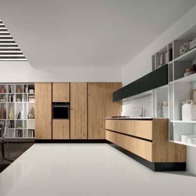 ARAN Volare moderne L Küche Eiche Natur Nerz