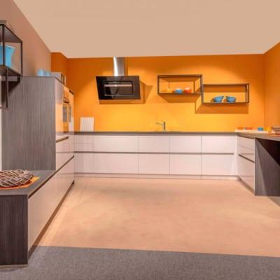 Bauformat L Küche Pamplona Arktis Weiß Hochglanz 9