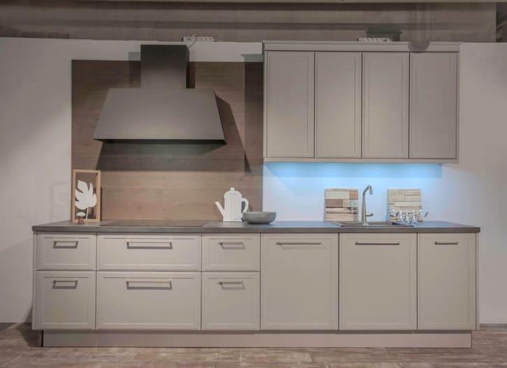 Nolte Küchenzeile Torino Lack Platingrau 1
