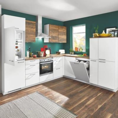 L Küche Lack Küche weiß 15