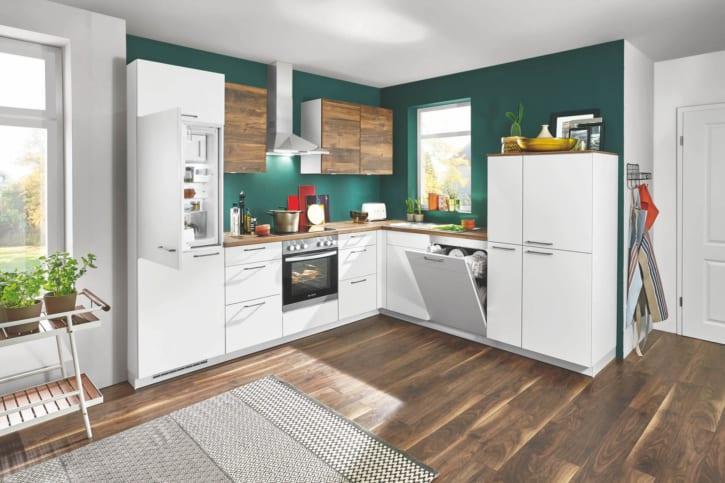 L Küche Lack Küche weiß 1