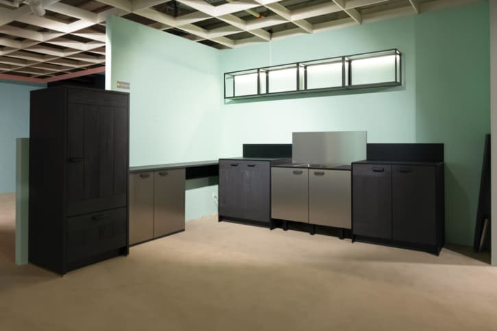 Bauformat Küche Carbon Wood Gestrahlt 1