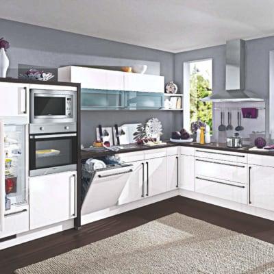 Lack Magnolie Hochglanz L Küche 11