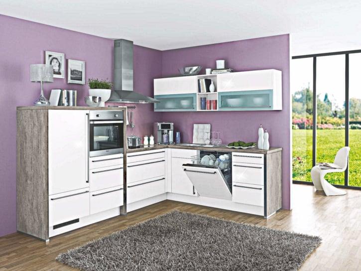 Weiße Beton L Küche 1