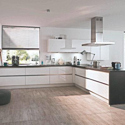 Große U Küche weiß 9