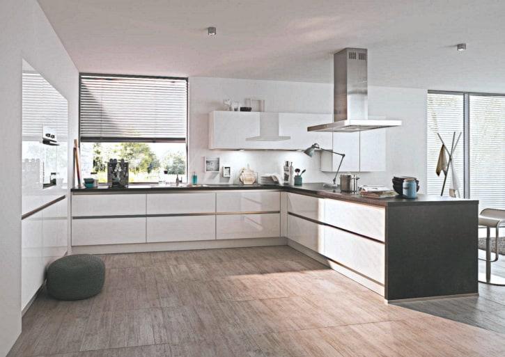 Große U Küche weiß 1