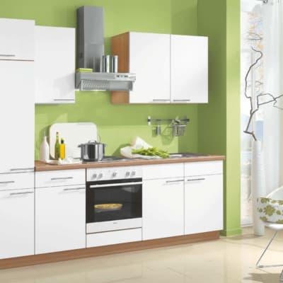 Weiße Perlstruktur Küchenzeile 11